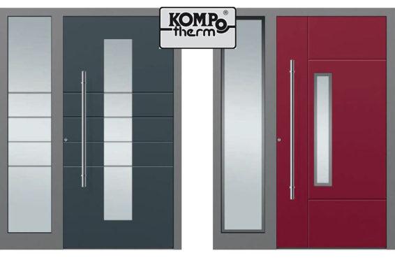 Offre KOMPOTHERM Sécuritéet Design : de portes d'entrée en aluminium à desconditions tarifaires spéciales jusqu'au 30 juin 2018 !