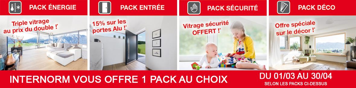 Offre INTERNOM du 01/03 au 30/04/2018 : 1 pack OFFERT !
